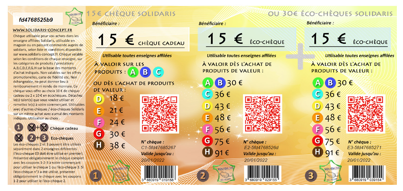 chèque 15€ pour site